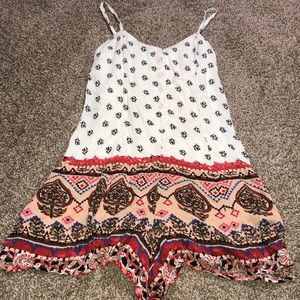 2 pattern colorful romper button down the front